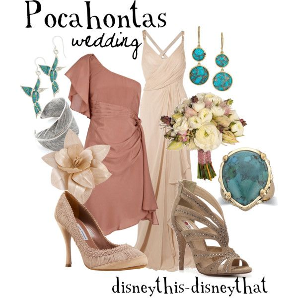 Pocahontas Wedding, created by disneythis-disneythat on Polyvore