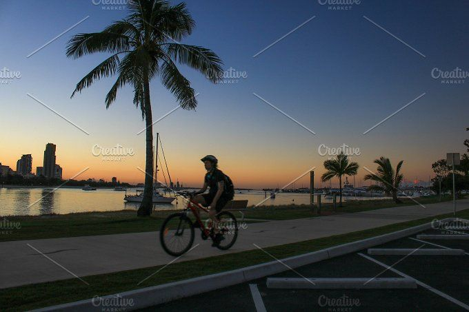 Riding a bike on the weekend by NotJustVisual on @creativemarket