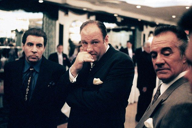Research: The Sopranos TV show  with James Gandolfini as Tony Soprano, Tony Sirico as Paulie Gualtieri and Steven Van Zandt as Silvio Dante ...