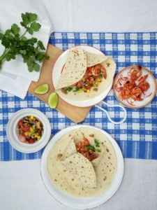 Shrimp Tortillas with Mango Salad
