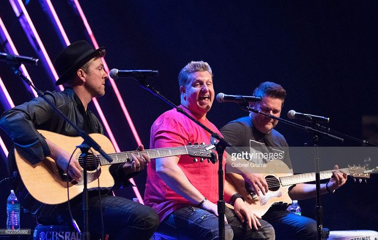 Joe Don Rooney, Gary LeVox and Jay DeMarcus of Rascal Flatts perform at the CBS RADIOs second annual Stars and Strings concert at The Chicago Theatre on November 9, 2016 in Chicago, Illinois.