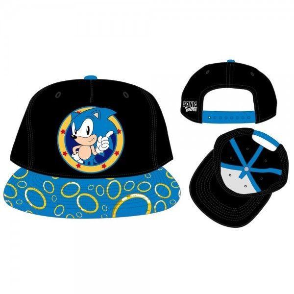 Sonic the Hedgehog Snapback Hat Cap Rings on Flat Bill SEGA Video Game Bioworld #Bioworld #SnapbackHat