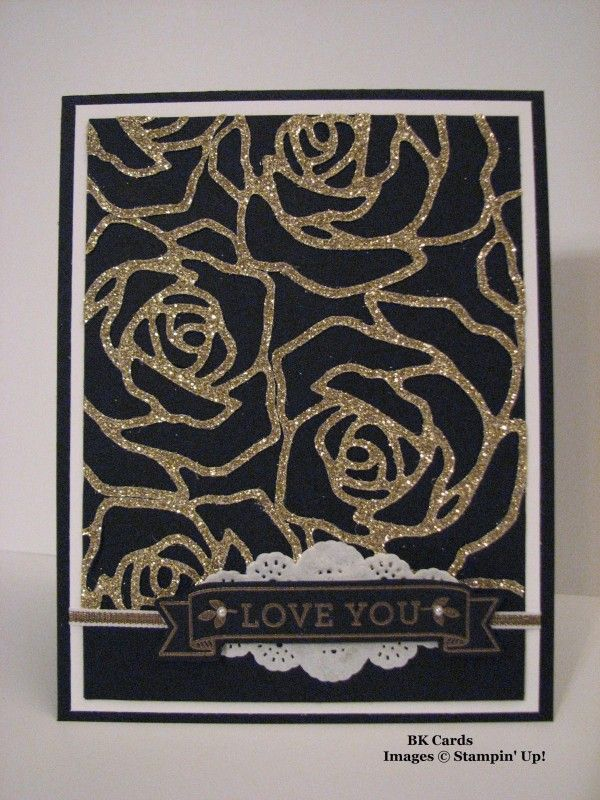 CCMC 386, Gold Roses by BK cards - Cards and Paper Crafts at Splitcoaststampers