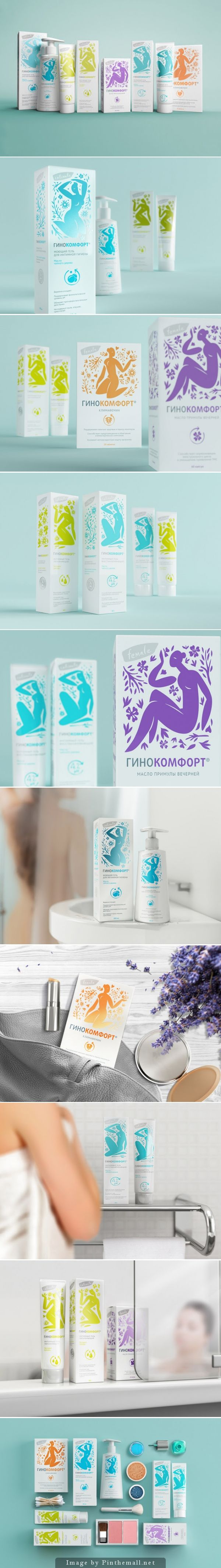 Ginocomfort #packaging by OTVETDESIGN - http://www.packagingoftheworld.com/2014/11/ginocomfort.html