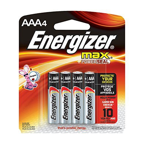 Energizer MAX AAA Batteries Designed to Prevent Damaging Leaks (4 Count)
