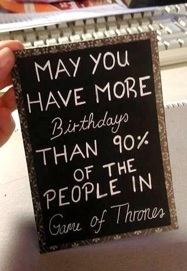 Birthday card for all Game of Thrones fans!