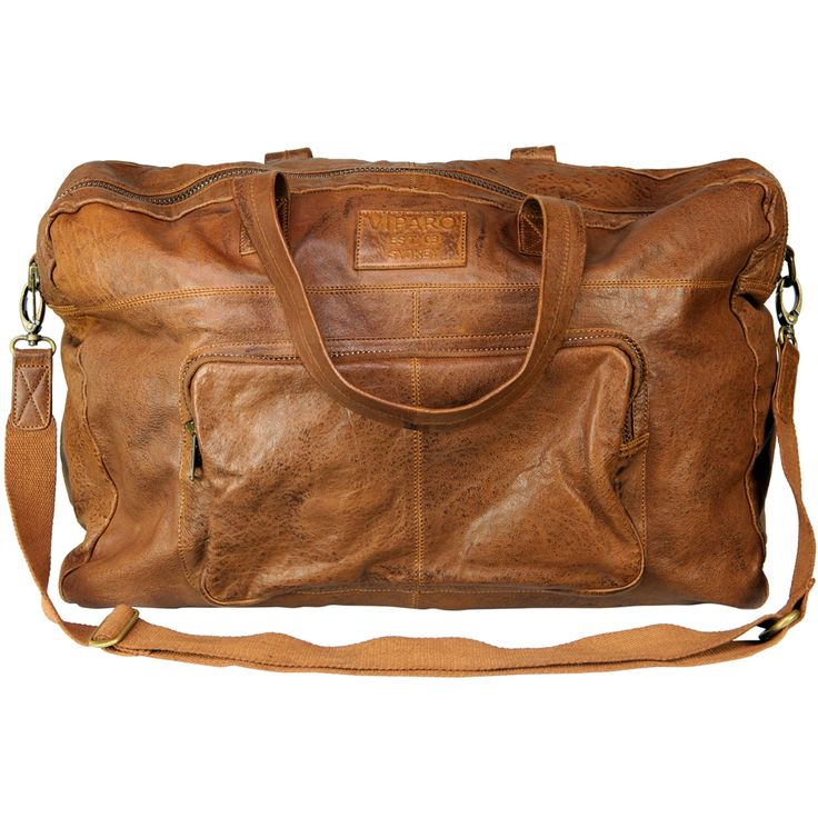 Tan crosby 20 inch leather travel bag - hardtofind.