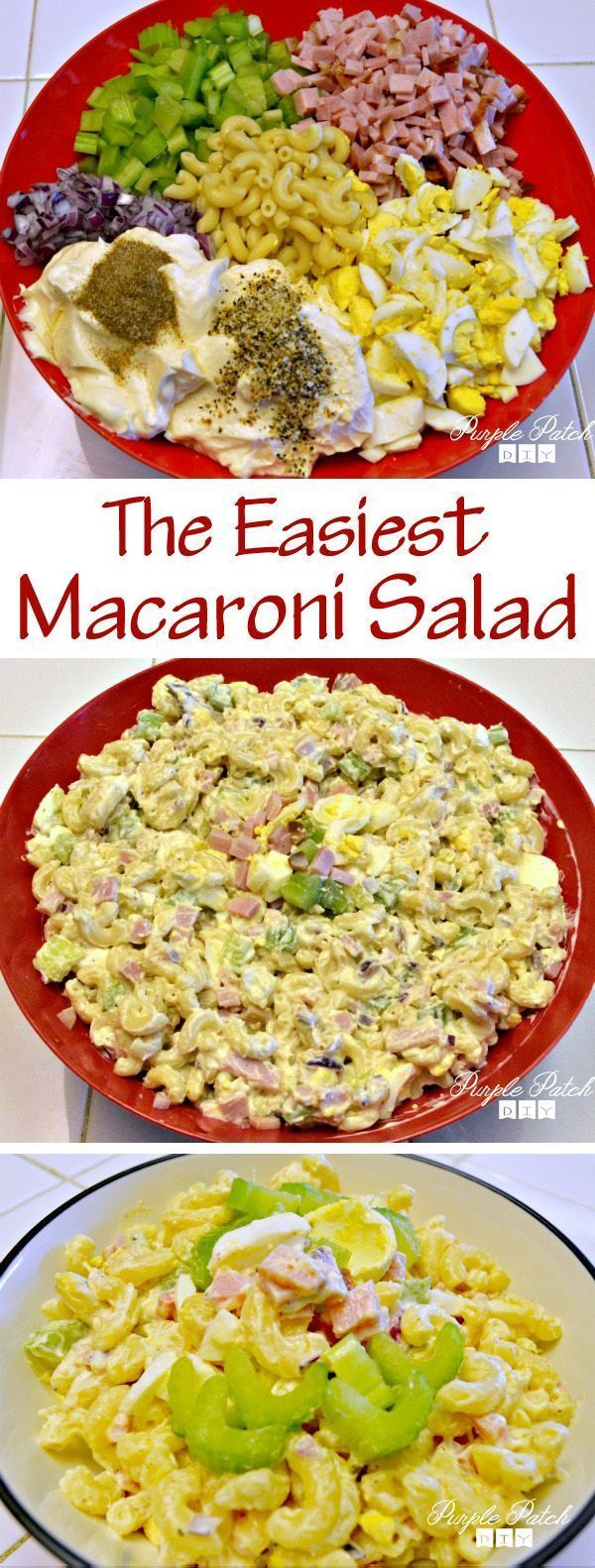 How to make Macaroni Salad. Great for picnics and barbeques!