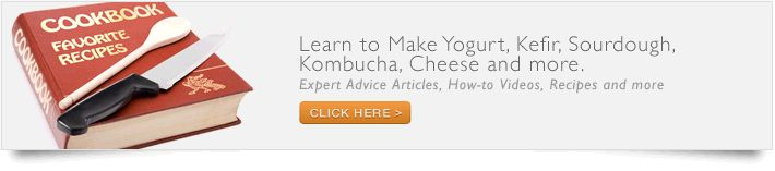 Starter Cultures for Making Yogurt, Kefir, Sourdough, Kombucha, Buttermilk, Tempeh and more Double click pic for article