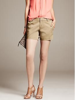 Classic short with a bit of polish for weekends out.