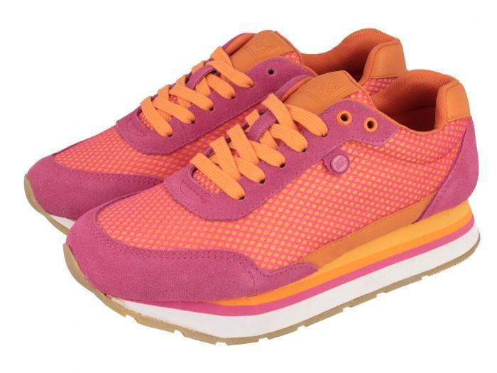 Riesi by Gioseppo / Zapatillas deportivas de mujer en rosa y naranja