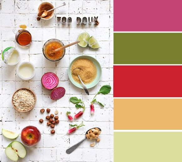Color palette of the week: colourful vegetables