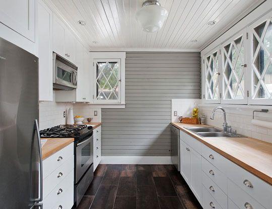Flatten Wood Grain On Kitchen Cabinets