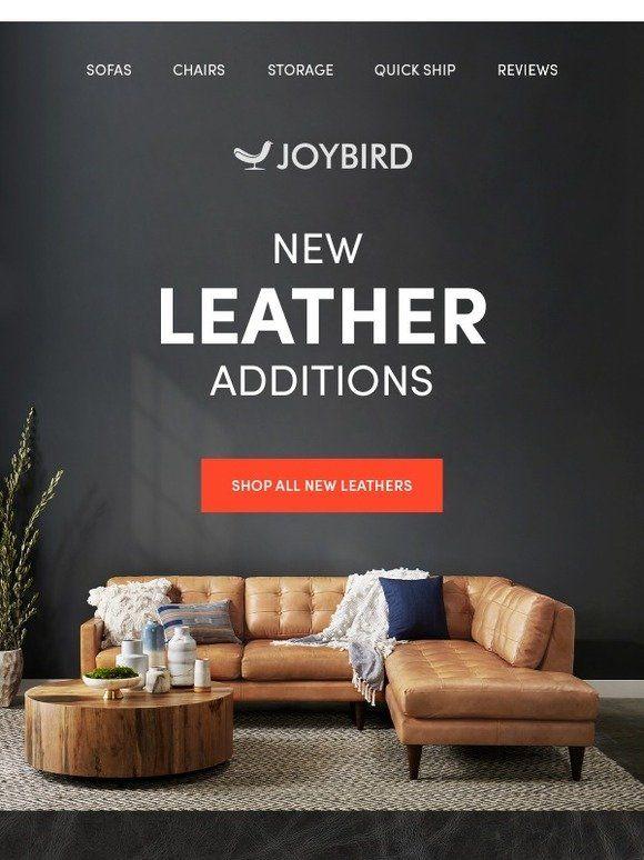 Everything S Better In Leather Joybird Joybird Graphic Design Flyer Home Goods Furniture