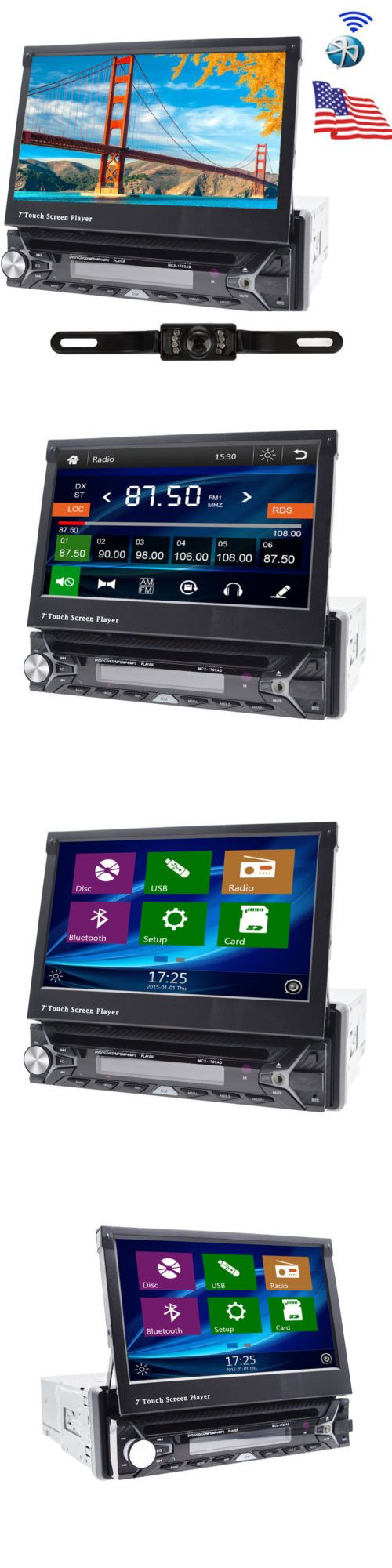 Vehicle Electronics And GPS: Single 1 Din 7 Hd Gps Nav Car Stereo Cd Dvd Mp3 Player Radio +Camera Bluetooth -> BUY IT NOW ONLY: $145.99 on eBay!