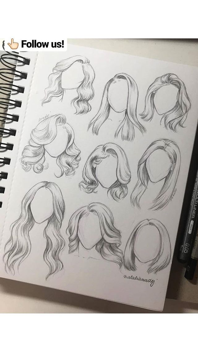ideas for hair drawing!!  cool
