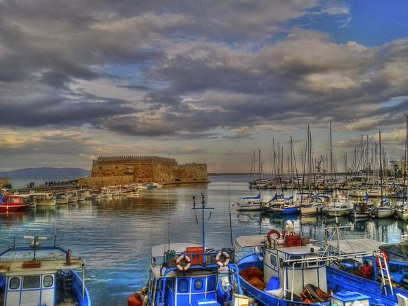 Heraklion town old Venetian Port