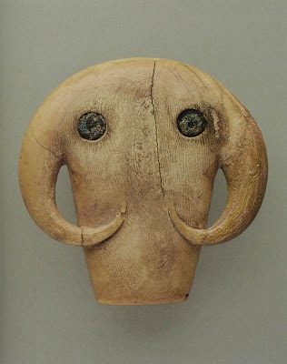 The Fantastical Fauna of Early Egyptian Art amulet in the shapeo of an elephant's head ca 3650-3300 BC, ivory