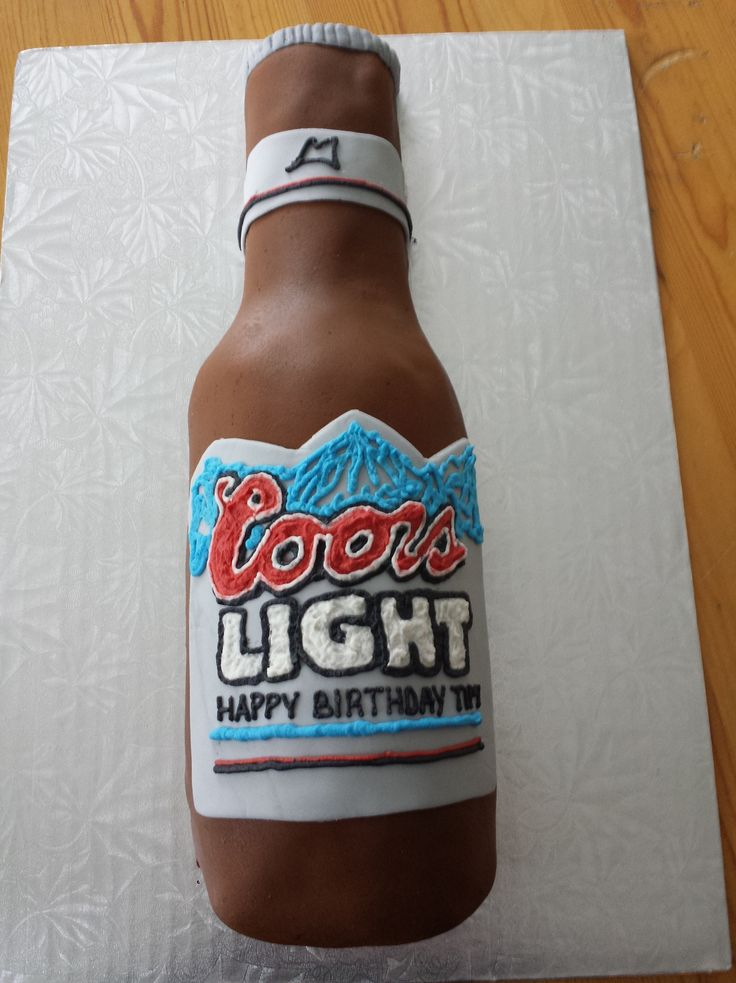 how to make a beer bottle shaped cake - Google Search