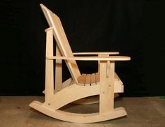 Adirondack Rocking Chair RETROFIT Kit Plans for the Grandpa Chair - DWG files for CNC machines