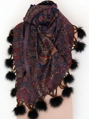 Fur Shawls For Sale - We have variety of designer fur shawls, fur scarves, fur stoles and wraps available for sale online. Our fur shawls and fur scarves are made from high quality of raw material which ensures durability at its user end.
