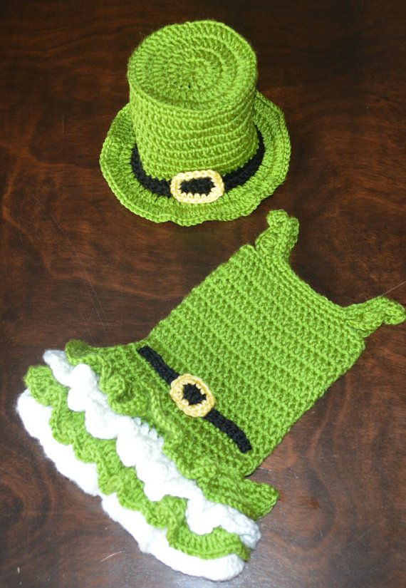 St Patricks Crochet Leprechaun Tutu Dress And Matching