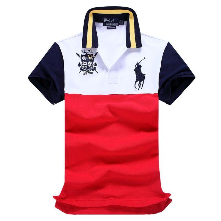Ralph Lauren RL Polo Shirt Men Clothing Solid Mens Polo Shirts Business  Casual Polo shirt Cotton