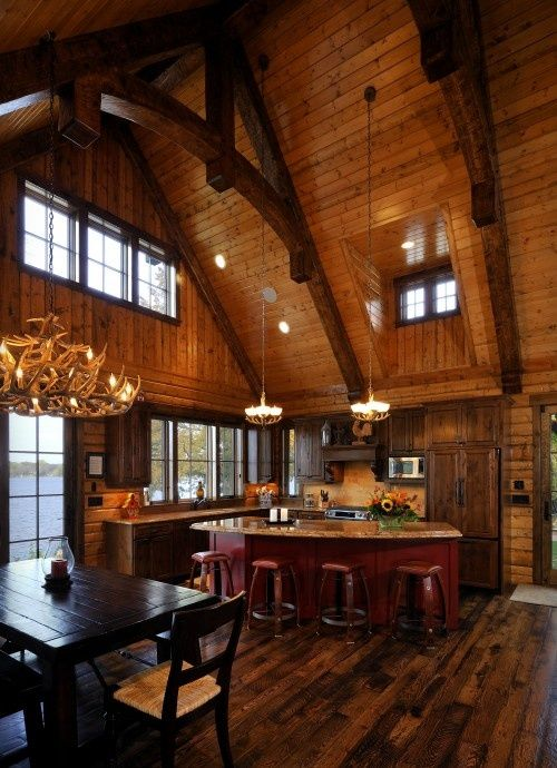 137 Best Rustic Great Rooms Images On Pinterest: 137 Best Log Cabin Kitchen Images On Pinterest