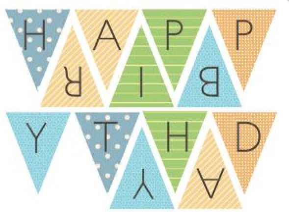 Hy Birthday Banner Pastel Hipster Sweet16 Banners Printable
