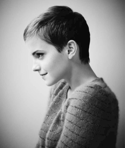 Emma Watson. She is so gorgeous with this hair cut!