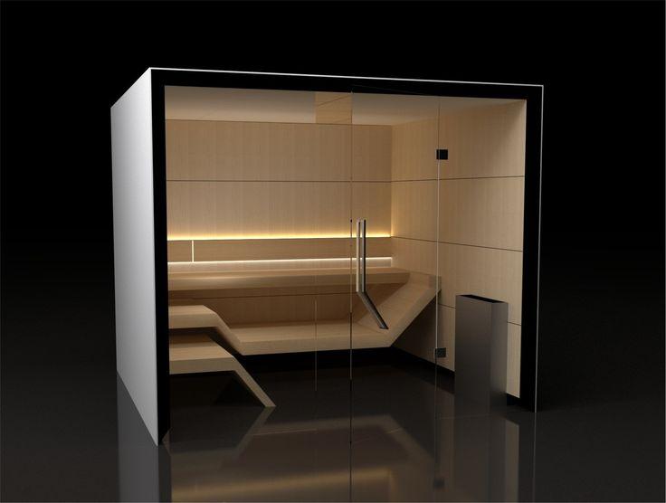 Sauna Modern Line - zachwyca prostotą i minimalistycznym wzornictwem.Ściany wykonane z geometrycznych, prostych, powtarzających się form w kształcie prostokątnych paneli drewnianych. Ławy o niebanalnym kształcie, ważna jest sama ich postać. Najwyższa jakość zarówno jeśli chodzi o design jak i wykonanie. Czyste białe światło wydobywające się zza oparcia tworzy efekt przestronności a zarazem harmonii.