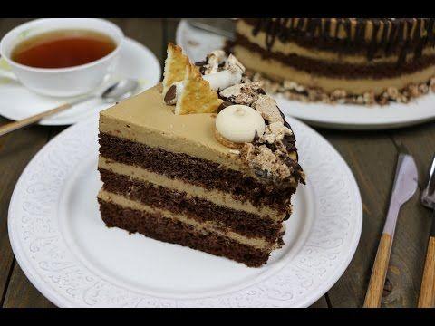 Шоколадно-кофейный торт - YouTube