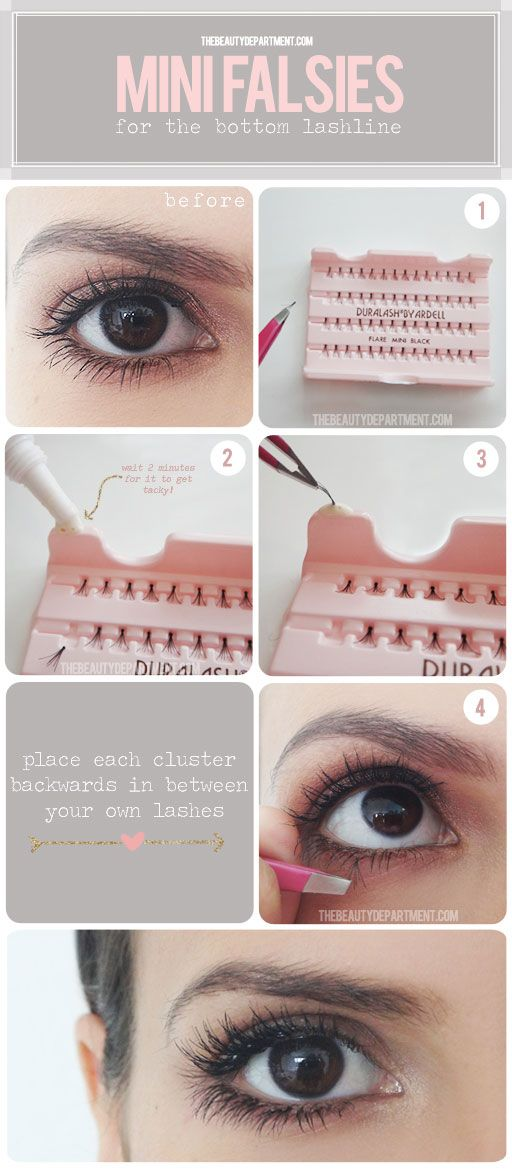 False eyelashes. . .love how natural these look!!!!