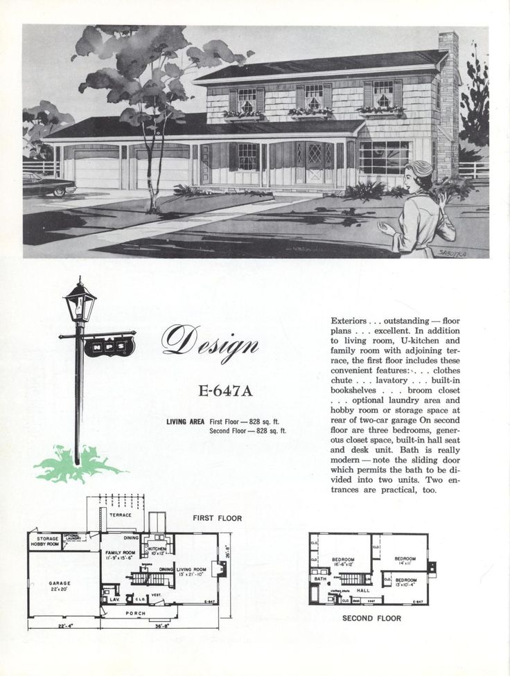 1000 images about vintage house plans 1960s on pinterest for 1960s home floor plans