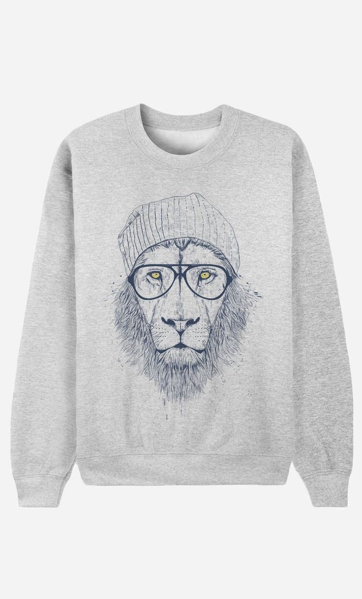 "Sweat Homme Original ""Cool Lion"" by Solti Balazs - Art Shop - Wooop.fr"