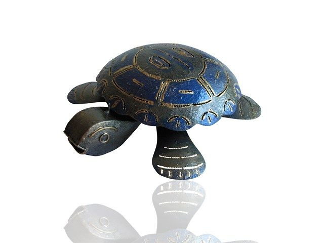 Metal Garden Art - Turtle Mosquito Coil Holder from Earth Homewares