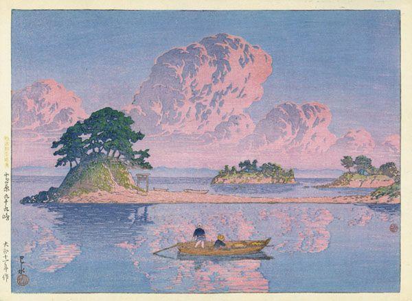 Kawase Hasui, Kujukushima, Shimabara, 1922