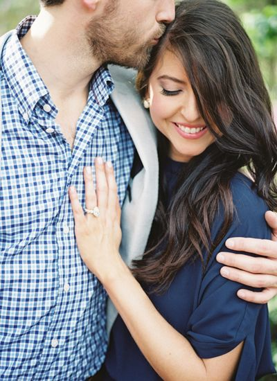 engagement session in blues | Berrett Photography #wedding