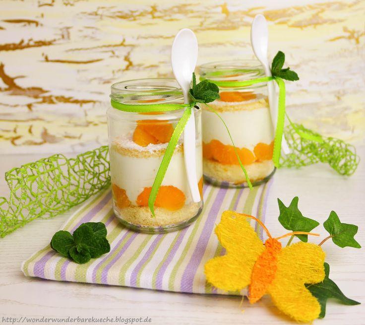 Torten im Glas: Käsesahne mit Mandarinen