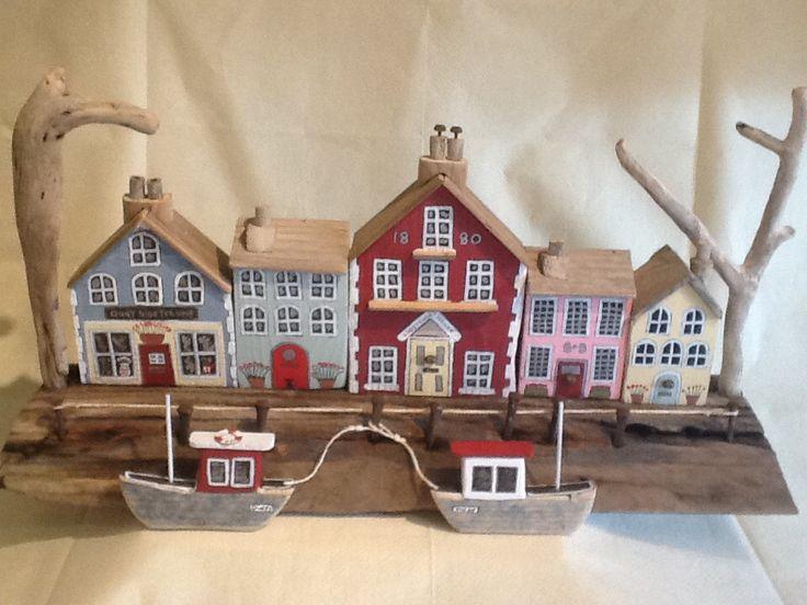 Driftwood harbour scene made February 2015