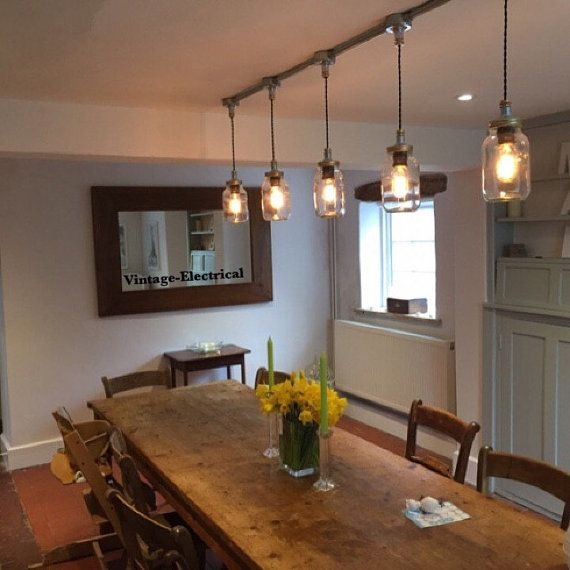 The Keswick 5 X Kilner Hanging Mason Jar Lights Ceiling Dinning Room Office Kitchen Table Vintage