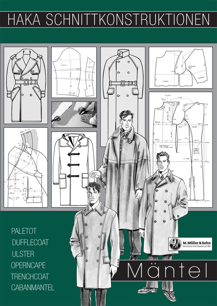 M. Muller & Sohn sewing patterns, Menswear section constructions Coats