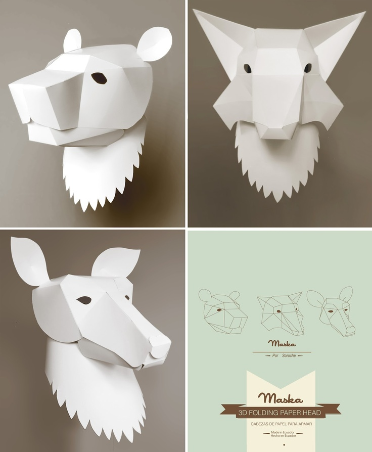 #paper #white #animals by isadora