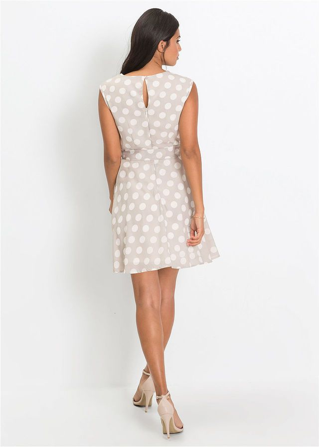 94c4fb18da Pöttyös ruha • homokszín-fehér pöttyös • bonprix áruház | Ruha