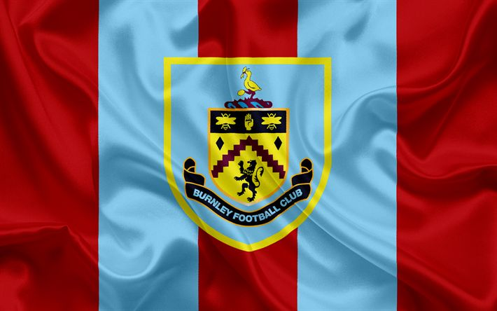 Lataa kuva Burnley, Football Club, Premier League, jalkapallo, Yhdistynyt Kuningaskunta, Englanti, Burnley-tunnus, logo, Englannin football club