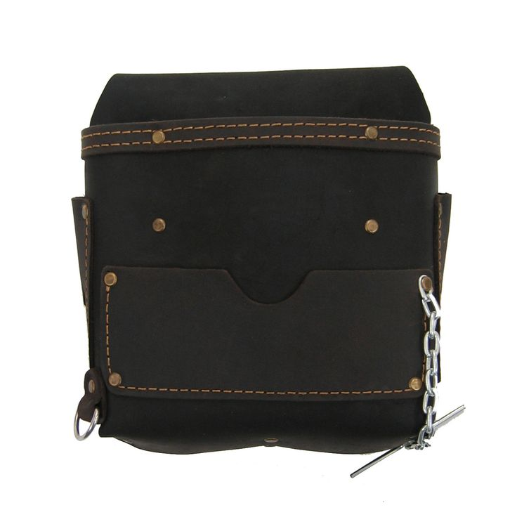 70602 - 6 Pocket Electrician's Tool Pouch in Heavy Top Grain Oiled Leather