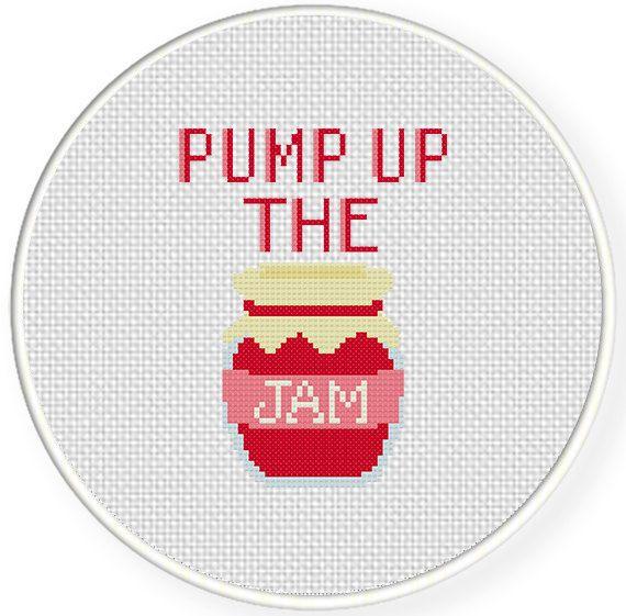 SALE Easy Stitch Pump Up the Jam PDF Cross Stitch Pattern Needlecraft on Etsy, $2.99