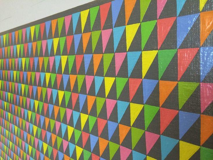 Sara Eichner, spectrum flags 2014, oil on linen over panel, detail