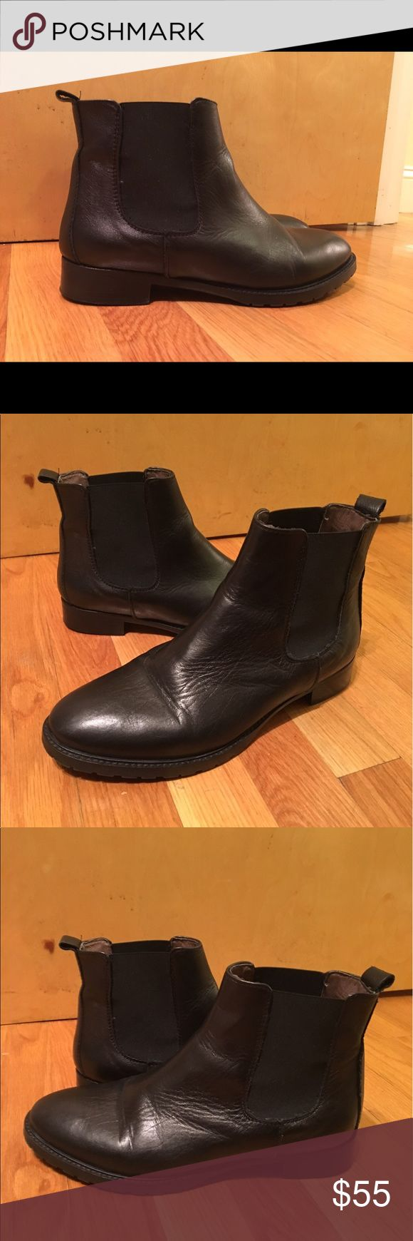 Black leather Chelsea boots size 39 Bought these in Rome, only worn twice, great condition! Technically a euro size 39 which should be a 9, but I wear an 8.5 and they fit me pretty snugly. casuccio & scalera Shoes Ankle Boots & Booties