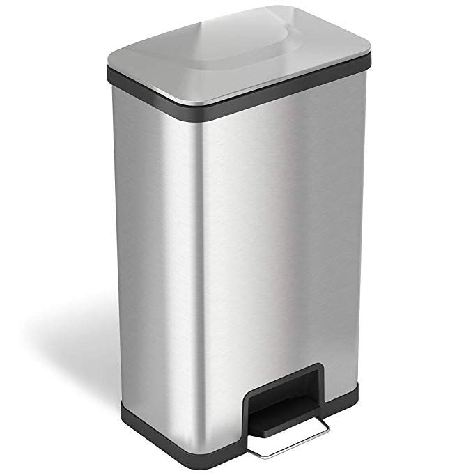 Itouchless Softstep Stainless Steel Step Trash Can Bathroom